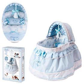 Кроватка 51122 для куклы DeCuevas , 46-52- см, постель, подвеска,
