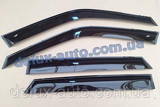 Ветровики Cobra Tuning 4 части на авто Subaru Forester I 1997-2002 Дефлекторы окон Кобра Субару Форестер 1