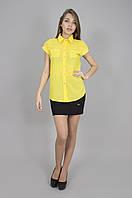 Блуза женская с коротким рукавом желтая (Блуза жіноча з коротким рукавом жовта)
