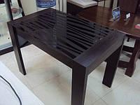 Стол обеденный на заказ «Модерн» со крашеным стеклом  рисунком