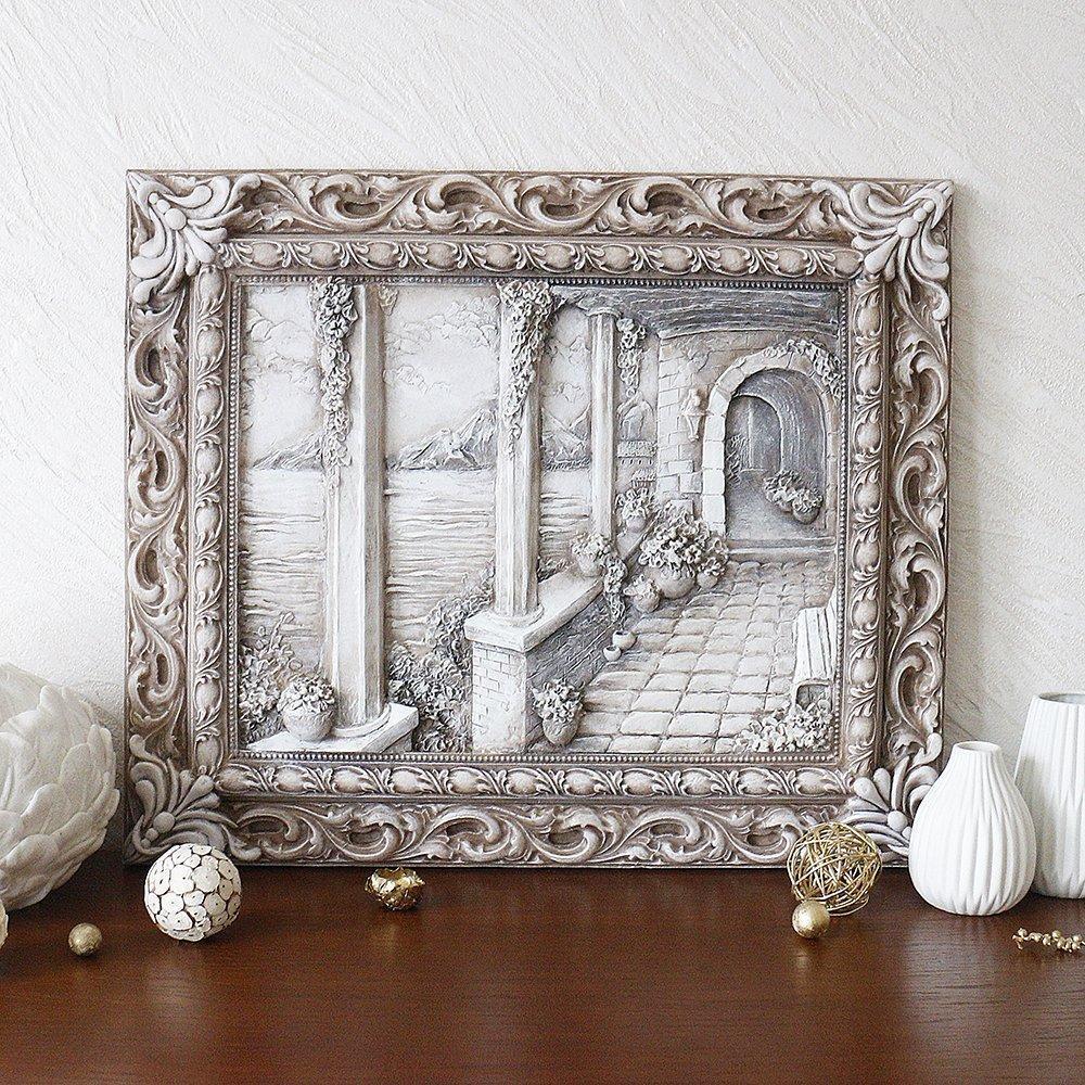 Барельеф Итальянский дворик светящийся в темноте КР 908 камень светит