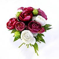 Ранункулус букет ткань 404 искусственные цветы