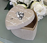Шкатулка сердце с зонтиком GM09-J6039L, фото 3
