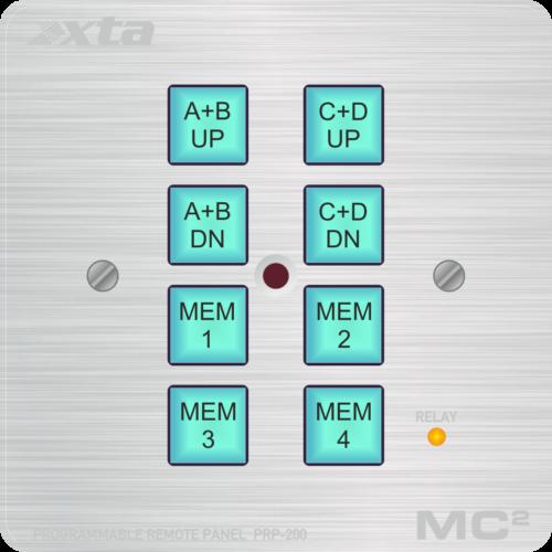 Программируемая панель управления XTA Electronics Dpanel-8