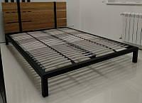Кровать Саша из металла и дерева