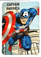 Флисовый плед Капитан-Америка Avengers от Marvel 100*150см в кроватку, коляску, коврик для игр