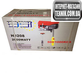 Лебідка тельфер таль Eurocraft HJ 208.1000 кг