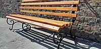 Кованая лавка садовая Светлана 2м с укрепляющей подвеской ЯСЕНЬ, фото 1