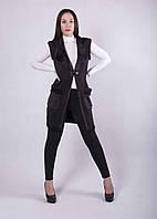 Женский костюм на меху лосины с жилеткой р. 44-56