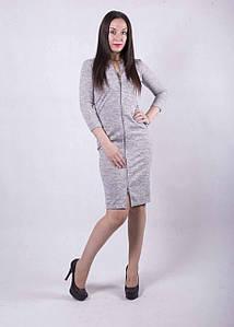 """Жіноче плаття на осінь """"Анжеліка"""" р. 42-50 колір сірий"""