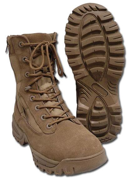Ботинки Mil-Tec тактические, 2 молнии, (Coyote, койот)