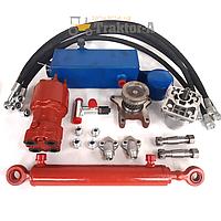 Комплект гидравлического управления на минитрактор, мотоблок (гидроруль, дозатор)