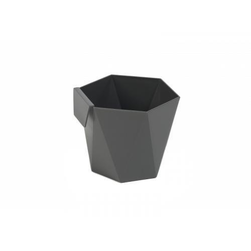Горшок (кашпо) Хеца (110*120*130мм) Антрацит