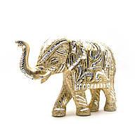 Слон резной алюминий (24х16,5х7 см)(elephant cut big), фото 1