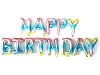 "Фольгированный шар-надпись ""Happy birthday"" голограмма Китай"