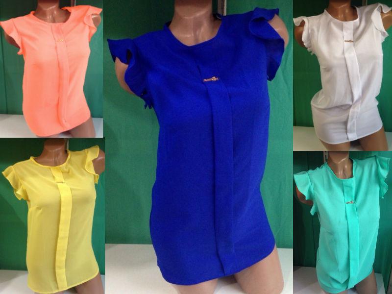 Женская нарядная шифоновая блузка Сьюзи