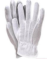 Перчатки для официантов, ювелиров Atteks парадные белые со строчками - 1204-1