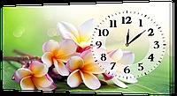 Настенные часы на холсте Декор Карпаты c528 Букет (LJaq87850)