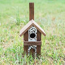 """Скворечник для птиц деревянный """"Семейный дом"""" 30 см D9018"""