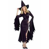 Черный готический костюм ведьмы