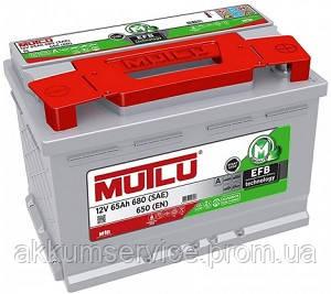 Аккумулятор автомобильный Mutlu EFB 65AH R+ 680A (EFB.LB3.65.065.A)