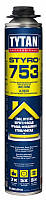 Цена за к-т 12шт Styro 753 TYTAN Пена-клей для пенополистирола (наружной теплоизоляции), 750 мл