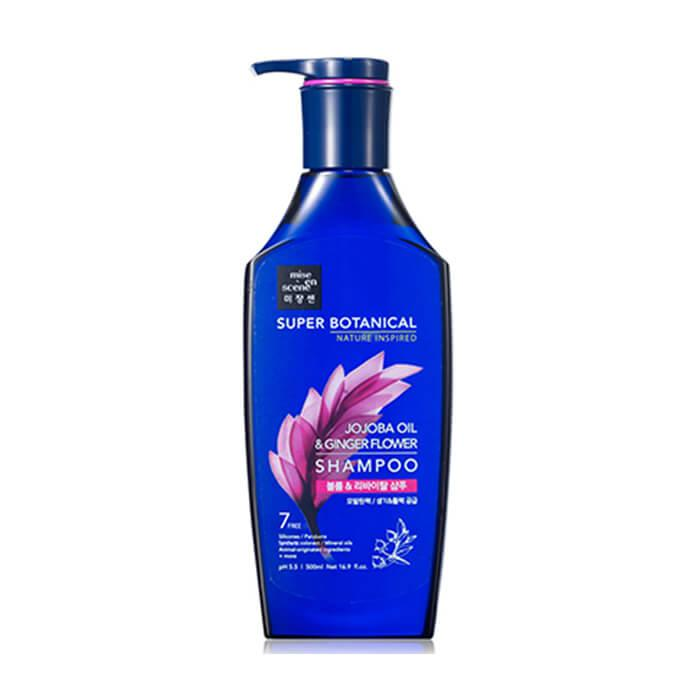 Шампунь для волос с маслом жожоба Mise en Scene Super Botanical Jojoba Oil & Ginger Flower Shampoo 500 мл