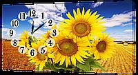 Настенные часы на холсте Декор Карпаты Букет подсолнухов (bDtp41569)