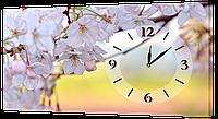 Настенные часы на холсте Декор Карпаты ch24 Цветы вишни (Qaos52244)