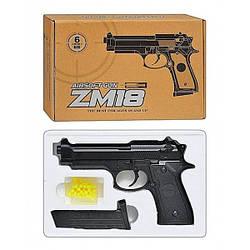 Страйкбольный металлический пистолет спринговый Beretta 92 CYMA ZM18