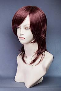 Длинный ровный парик №19,цвет баклажан