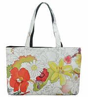Женская сумка цветы черная