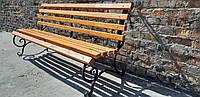 Кованая лавка садовая Светлана 2,2м (10 брусов)с укрепляющим подвесом Эконом, фото 1