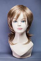 Длинный ровный парик №19, цвет мелирование русый с белым