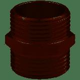 Никелированный переходник нипель  1/2 дюйм  MIRAYA