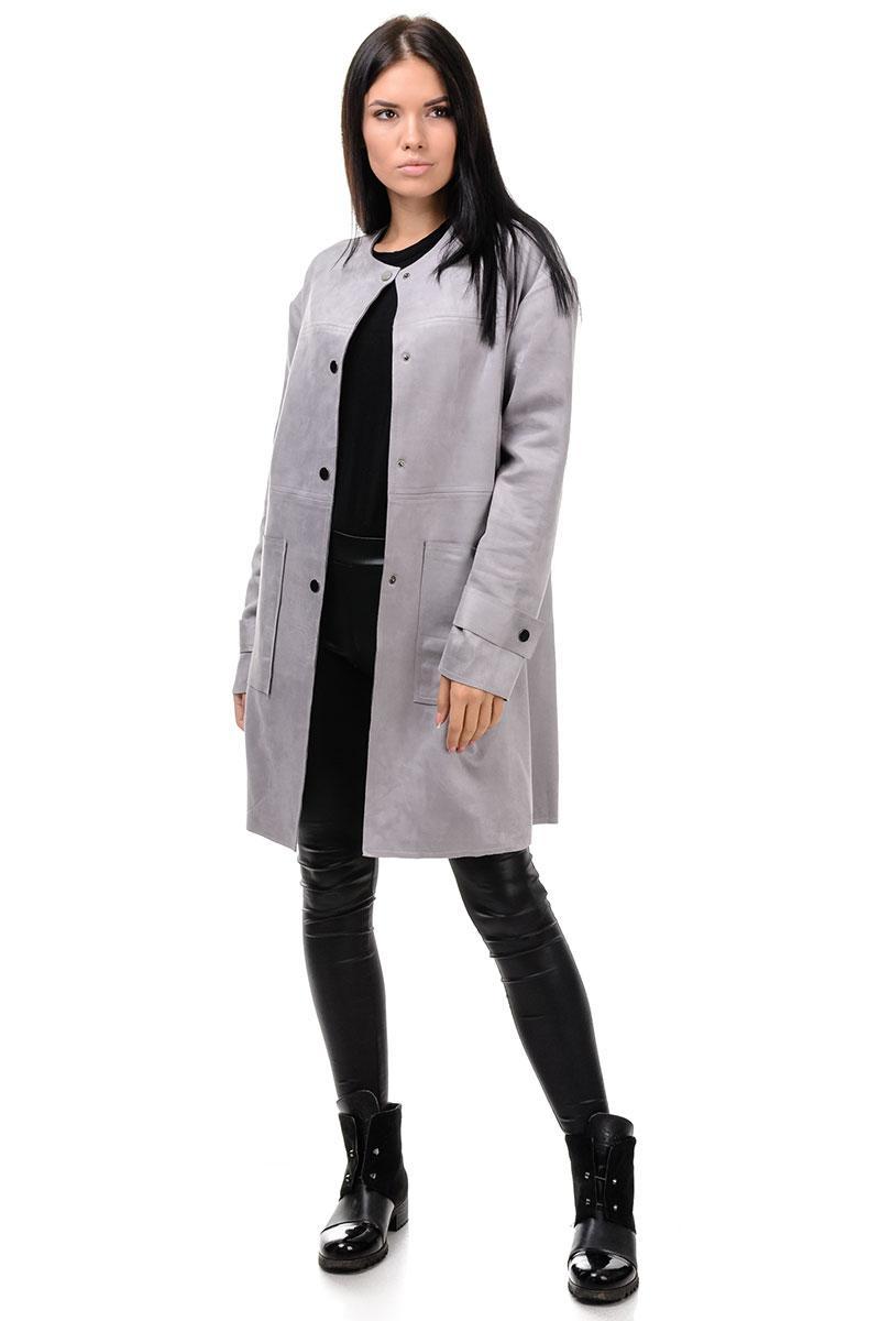 208  Модный женские кардиган Инга серый (S-L)