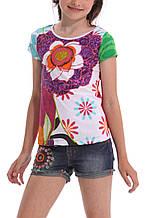 Детская футболка для девочки Desigual Испания 41T3227 Белый