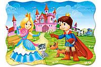 Пазлы для детей Принц и принцесса на 30 элементов Сastorland