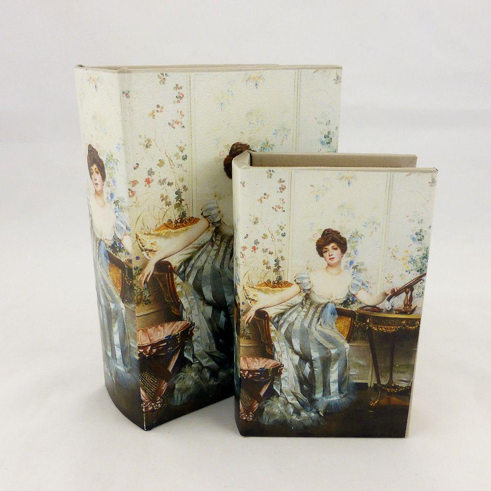 Шкатулка книга – Леди в голубом 22-KSH-SC372-PU
