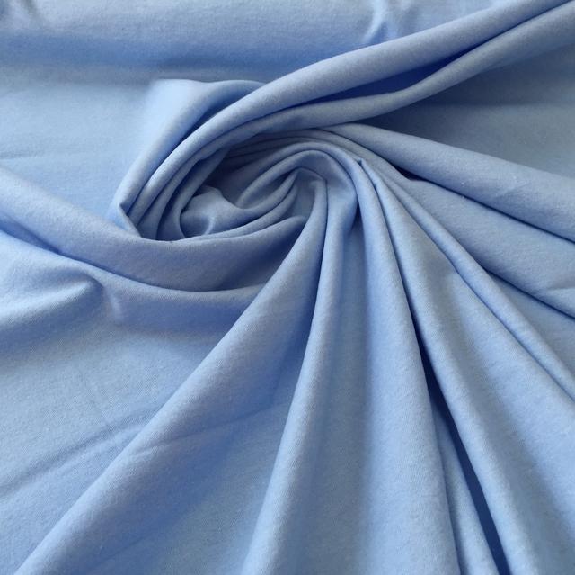 Однотонная голубая фланель с шириной 95 см