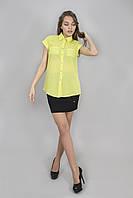 Блуза женская с коротким рукавом лайм (Блуза жіноча з коротким рукавом лайм)