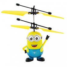 Вертолёт миньён P388 веселая игрушка для детей с подсветкой