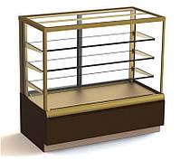 Витрина Carboma Cube ВХСв - 0,9д прямое стекло, золото, кондитерская