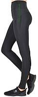 Cпортивные женские лосины черный элластан с бифлексом