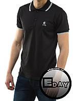 Чёрная мужская футболка POLO Ястребь поло есть опт, фото 1