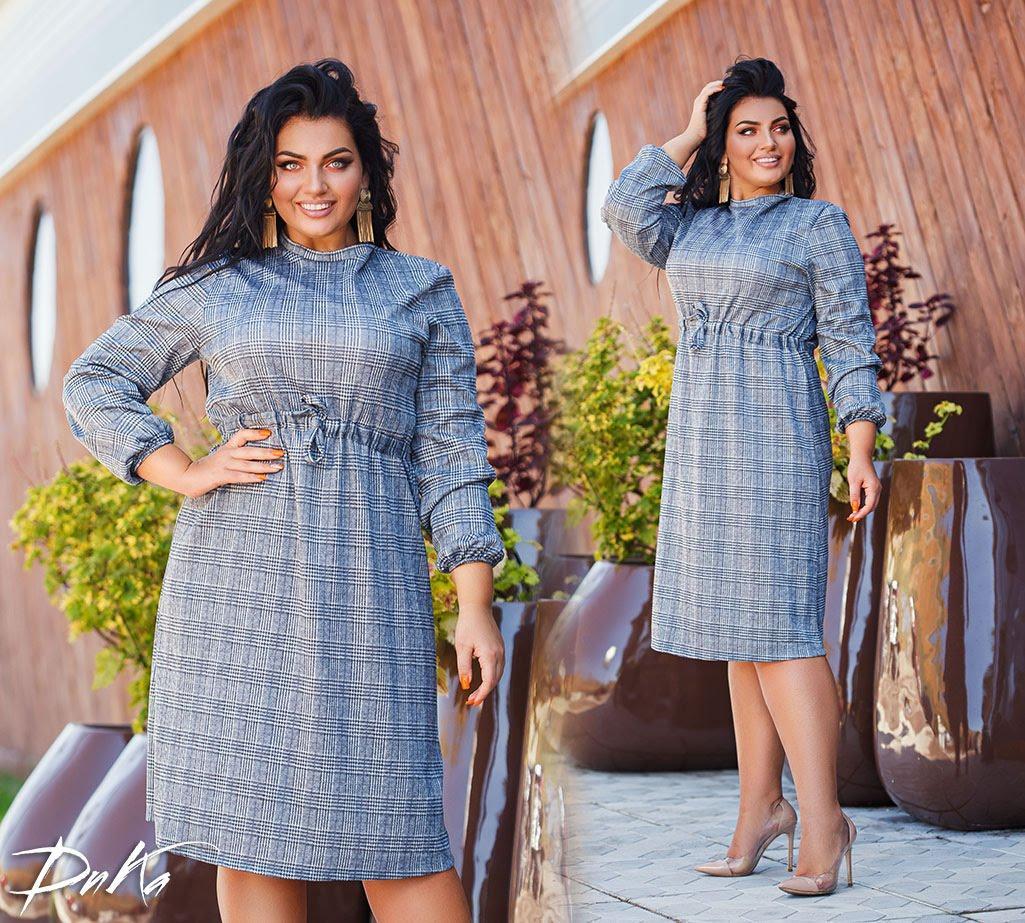 Платье в больших размерах в расцветках (DG-АК 0483)