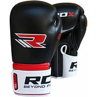 Боксерские перчатки RDX REX Leather Black, фото 1