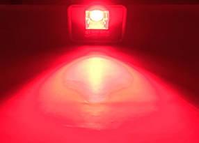 Светодиодный линзованый прожектор PREMIUM LEON SL-50RLens 50W красный IP65 Код.59638