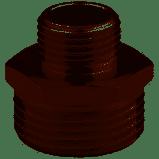 Никелированный переходник ниппель   ред 1/2*3/8 дюйм  MIRAYA, фото 2