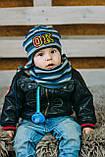 Детская шапка (набор) для мальчиков РОЙ оптом размер 48-50-52, фото 3
